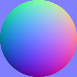 OpenGL用の法線マップ
